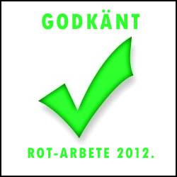 Detta är godkänt ROT-arbete 2012
